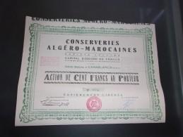 CONSERVERIES ALGERO MAROCAINES (casablanca , Maroc) - Shareholdings