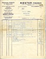 77 COULOMMIERS RIESTER Frères 22 Ue Le Valentin Travaux Publics ,Concessionnaire PEUGEOT PANHARD - Automobile