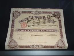 BANQUE FRANCAISE DU MAROC (1924) - Acciones & Títulos
