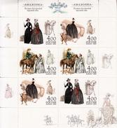 RUSSIA- 2004- RUSSIAN LADIES RIDING HORSES- - Costumes-des Costumes-Kostüme-trajes