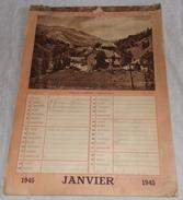 Calendrier De 1945 Français WW2 - 1939-45