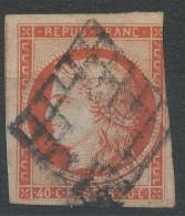 Lot N°33161  Variété/n°5, Oblit Grille De 1849, Filet SUD - 1849-1850 Cérès