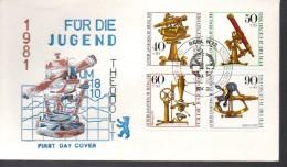 ALLEMAGNE   BERLIN  FDC 1981 Instruments D Optique Historiques