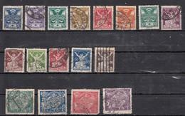 Tchecoslovaquie  Sèrie Courante 1920  17 Valeurs - Oblitérés