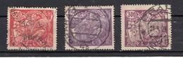 Tchecoslovaquie  Sèrie Courante  1923  3 Valeurs - Oblitérés