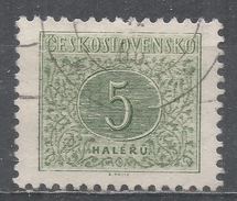 Czechoslovakia 1955 Scott #J82 Postage Due, Numeral (U) Perf 11 1/2 - Timbres-taxe