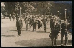 ZELDZAME FOTOKAART - FOTOGRAAF CH.DE CLERCQ - RUE COURTE DU JOUR 6 GAND - BEZOEK KONING ALBERT EN ELISABETH 1913 ???2 SC - Gent