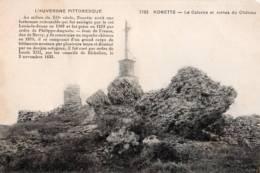 63 - NONETTE- LE CALVAIRE ET RUINES DU CHÂTEAU - France