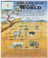 LIBERIA  2181 M  MINT NEVER HINGED MINI SHEET OF WILDLIFE & ANIMALS  ; AFRICA ( 0445 - Zonder Classificatie