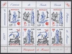 MONACO 2003 - MINI FEUILLE DE 2 SERIES N°2410 A 2413 - 8 TP NEUFS** - Blocks & Sheetlets