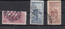 Tchecoslovaquie 20ème Anniversaire De La Création De La Légion  3 Valeurs - Oblitérés