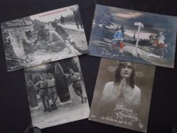GUERRE 1914-18 - Lot De 4 CPA - Diverses- A Voir ! - Guerre 1914-18