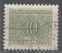 Czechoslovakia 1954 Scott #J84 Postage Due, Numeral (U) Perf 11 1/2 - Timbres-taxe