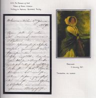 DUCHESS OF KENT QUEEN VICTORIA MENDORF POUILLY CLAREMONT 1857 LETTER - Historical Documents