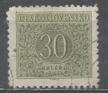 Czechoslovakia 1954 Scott #J84 Postage Due, Numeral (U) Perf 12 1/2 - Timbres-taxe