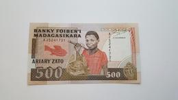 MADAGASCAR 500 ARIARY ZATO  XF - Madagaskar