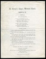 ST GEORGE'S CHAPEL WINDSOR CASTLE CHORALE PRINCE OF WALES KING EDWARD VII - Partituren
