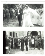 TERNY Un Beau Mariage De Juin 1947 2 Photos Originales Format 7 X 11.5 - Autres Communes