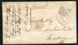 CHANNEL ISLANDS VICTORIA GREAT BRITAIN SOUTH HAMPTON SHIP LETTER PENNY PINK 1845 - 1840-1901 (Victoria)