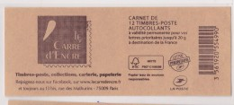 FRANCE 2014  CARNET CARRE D ENCRE - Libretti