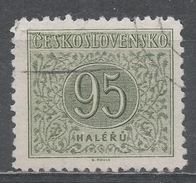 Czechoslovakia 1954 Scott #J87 Postage Due, Numeral (U) Perf 12 1/2 - Timbres-taxe