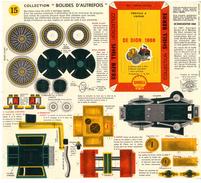 TRICYCLE A VAPEUR DE DION 1888   COLLECTION SCHELL BERRE   BOLIDES D AUTREFOIS   MAQUETTE EN CARTON  EDITION ANNEE 50 - Paper Models / Lasercut
