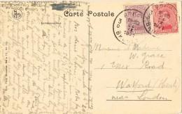 20421. Postal BRUGES (Belgien) 1921. Derriere  Gruuthuse. Types Brugeois - Bélgica