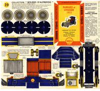 PANHARD ET LEVASSOR 1911   COLLECTION SCHELL BERRE   BOLIDES D AUTREFOIS   MAQUETTE EN CARTON  EDITION ANNEE 50 - Carton / Lasercut