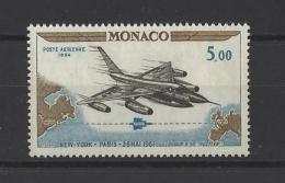 MONACO . YT PA 82 Neuf ** 3e Anniversaire Du Vol New-York-Paris   1964 - Posta Aerea