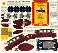 RUMPLER TROPFENWAGEN 1921 COLLECTION SCHELL BERRE   BOLIDES D AUTREFOIS   MAQUETTE EN CARTON  EDITION ANNEE 50 - Carton / Lasercut