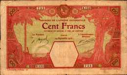BANQUE AFRIQUE OCCIDENTALE  100 FRANCS Du 14-09-1926 Pick 11Bb  RARE - West African States