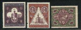 1894 San Marino Saint Marin PALAZZO DEL GOVERNO Serie Di 3v. Nuova Con Difetto - San Marino