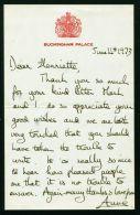 FINE ORIGINAL HAND SIGNED LETTER PRINCESS ANNE CAPTAIN MARK ENGAGEMENT 1973 - Historical Documents