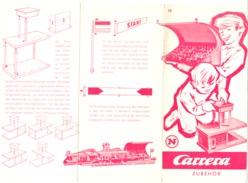 """Feuille Publicitaire Explicative Pour Montage D'accessoires Au Circuit Voiture """" CARRERA - Jeu, Jouet, Automobile - Jouets Anciens"""