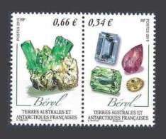 Taaf Terres Australes 2015 **  Mineraux Beryl - Minerals. Voir Description - Terres Australes Et Antarctiques Françaises (TAAF)