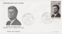 Enveloppe  FDC  1er  Jour    TCHAD    Président   John  KENNEDY   1969 - Kennedy (John F.)