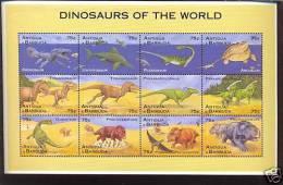 ANTIGUA & BARBUDA   1888 MINT NEVER HINGED MINI SHEET OF DINOSAURS   #   M-024  ( - Briefmarken