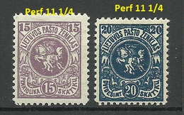 LITAUEN Lietuva Lithuania 1919 Michel 61 - 62 * - Lithuania