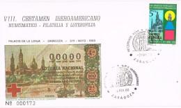 20431. Carta Exposicion ZARAGOZA 1980. Certamen Ibero Americano. La LONJA - 1931-Hoy: 2ª República - ... Juan Carlos I