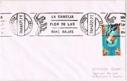 20432. Carta PONTEVEDRA 1971. Rodillo Especial La CAMELIA FLOR De La Ria Bajas - 1931-Hoy: 2ª República - ... Juan Carlos I