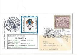 15898 - Christkindl  Cover Pro Juventute Und Des Pestalozzi 26. Weihnachts Ballonpost 7.12.1986 Pour Unterägeri Suisse - Noël