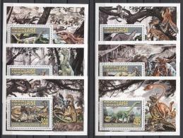 Togo Prehistoric Animals Dinosaurs Tiere 1994 Mi Bl#364-369 MNH - Prehistorics