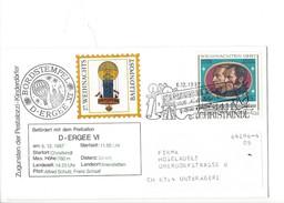 15899 - Christkindl  Lettre  27. Weihnachts Ballonpost 6.12.1987 Pour Unterägeri Suisse - Kerstmis