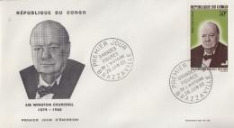 Enveloppe  FDC  1er  Jour   CONGO    Sir   Winston  CHURCHILL    1965 - Sir Winston Churchill