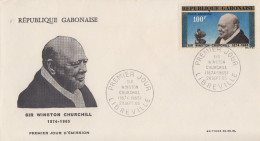 Enveloppe  FDC  1er  Jour   GABON    Sir   Winston  CHURCHILL    1965 - Sir Winston Churchill