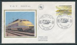 1984 Env 1er Jour Train TGV Postal - Lyon - FDC