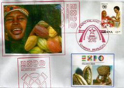GHANA PAVILION. UNIVERSAL EXPO MILANO 2015, Letter From The Ghana Pavilion, With Ghana Stamp - 2015 – Milan (Italy)