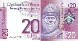 SCOTLAND P. 229Kc 20P 2014 UNC - 20 Pounds