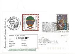 15907 - Christkindl  Cover Pro Juventute Und Des Pestalozzi 36 Weihnachts Ballonpost 1.12.1996 Pour Unterägeri Suisse - Noël