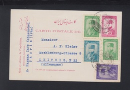Persia Iran Stationery 1936 Uprated Tauris To Germany - Iran